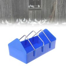 Pigeon Feeder Water Food Feeding Birds Parrots Hanging Cage Rectangle Supplies
