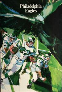 Philadelphia Eagles ORIG 1968 NFL Poster VTG Hoyle Theme - Super Bowl LII Champs