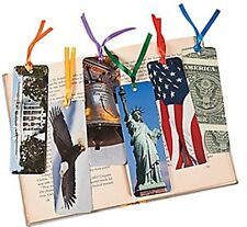 Pack of 12 - Laminated American Symbol Bookmarks Patriotic USA - July 4th