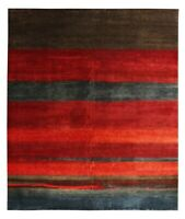 Multi Red Gabbeh Loribaft Orient Traditional Hand Knotted 100% Woolen Area Rugs