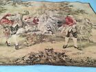 Antique 38 X 53 Dancing Music Dog 1700's Costumes Clothing Woven Tapestry