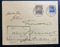 1917 Bucarest Romania German Occupation Censored cover Locally Used