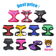 More details for soft mesh fabric dog puppy pet adjustable harness breathable with clip
