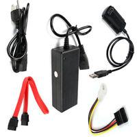 USB 2.0 to IDE SATA S-ATA 2.5 3.5 Hard Drive HD HDD Converter Adapter New