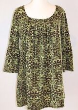 Just My Size Blouse 1X 16 W Green Citrine Combo Color