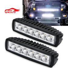 2X 6INCH 18W MINI LED WORK LIGHT BAR SPOT FOG LAMP FOR OFF ROAD JEEP FORD ME