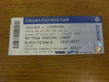27/01/2015 Ticket: Football League Cup Semi-Final, Chelsea v Liverpool  (folded,