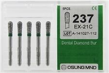 Dental Diamond Burs, Coarse Grit Multi-Use, 5 Pcs/Pk [237EX-21C]