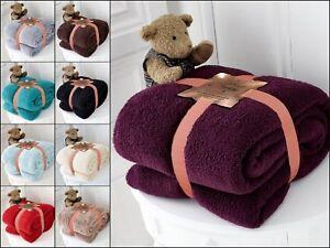Super Soft Teddy Bear Sherpa Fleece Throw  Blanket Sofa Bed Warm Non Allergic