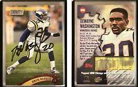 Dewayne Washington Signed 1997 Stadium Club #309 Card Minnesota Vikings Auto