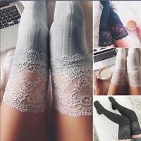 US Women Lady Winter Warm Over The Knee Thigh High Soft Socks Stockings Leggings