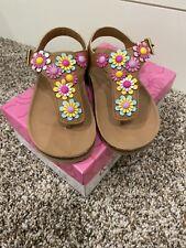 """NEW Sugar Girls Sandals """"Gardens"""" Floral Size 10M"""