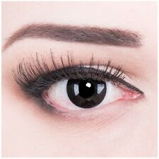 Black colored zombie contact lenses for Carnival and Halloween: Blackout