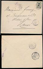 FRENCH INDOCHINA 1910 HON GAY REGISTERED SINGLE FRANKING 35c INTERNAL