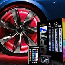 OPT7 All-Color Wheel Well LED Light Kit Custom Accent Neon Strips Rim Tire Set