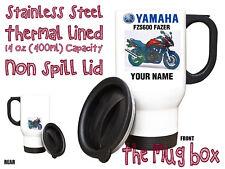 Yamaha FZS600 Fazer (98-04) Personalised Thermal Steel Mug. Perfect Gift!(MB162)