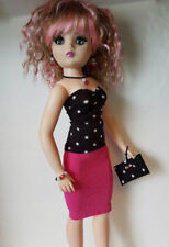 CISSY DOLL CLOTHES 6pc Top, Skirt, Beaded Purse & Jewelry HM Fashion NO DOLL d4e