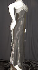 ASPEED GOWN DRESS WOMENS SIZE 6 SILVER FORMAL PROM WEDDING CRUISE USA MADE