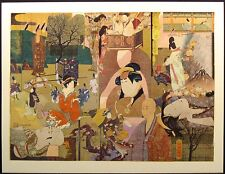 """Mary Helen Horty """"Eastern Episode III"""" Original Paper Collage MAKE AN OFFER!"""