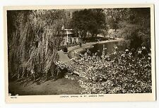 VINTAGE RPPC REAL PHOTO POSTCARD ST JAMES ROYAL PARK WESTMINSTER LONDON ENGLAND
