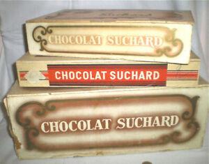3 ANCIENNES BOITES PUB CONFISERIE CHOCOLAT SUCHARD