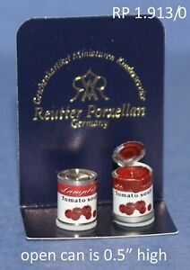 2 Can's of Tomato Soup 1:12 Scale REUTTER PORCELAIN