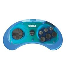 Sega Genesis 6 Button Wireless Controller - Clear Blue