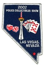 LAS VEGAS POLICE COLLECTIBLES SHOW NEVADA NV Sheriff Police Patch - STATE SHAPE