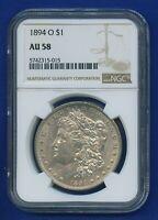 1894 O NGC AU58 Morgan Dollar $1 Silver US Mint Rare Key Date 1894-O AU-58 WOW!