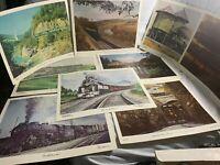 Ron Flanary - Limited Edition Prints of L&N Railroad Scenes - Ten Prints -1979