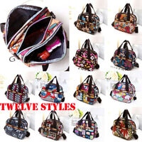 Women's Satchel Shoulder Bag Tote Messenger Cross Body Waterproof Canvas Handbag