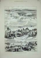 Old Antique Print 1877 War Plevna Turkish Forts Prince Charles Roumania 19th