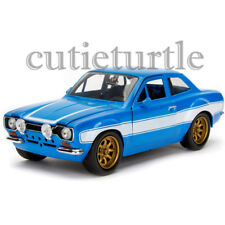 Jada The Fast and Furious Brian's Ford Escort 1:24 Diecast Model Car 99572 Blue