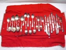 Court Silver Plate Flatware 25 pc set Silveplate w/Box Service for 6