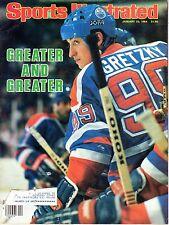 1984 (1/23) Sports Illustrated Hockey magazine Wayne Gretzky, Edmonton Oilers~Fr