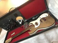 Vintage Silvertone 1457 Guitar W/Amp In Case Please Read Project As Is Parts Old