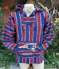 Mexican NFL New England PATRIOTS Baja hoodie pullover sweater Large