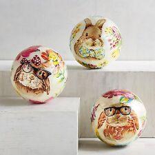 Pier 1 Imports Capiz Easter Bunny Decorative Sphere - Bow Tie Bunny NEW