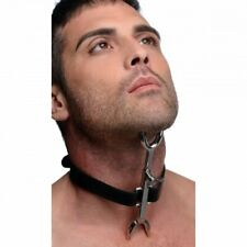 Heretics Fork Posture Collar Bondage Kinky Strict Leather Steel Sadistic Discree