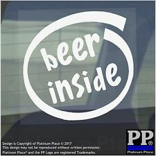 1 x Beer Inside-Window,Car,Van,Sticker,Sign,Vehicle,Adhesive,Alcohol,Party,Drink