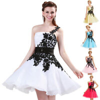 Lace Short Evening Cocktail Prom Formal Gown PARTY Bridesmaid CELEB Bridal Dress