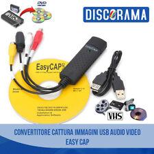 CONVERTITORE CATTURA IMMAGINI USB AUDIO VIDEO EASY CAP VHS VCR TV DVD PC