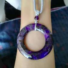 handmade sugilite donut harmony pendant necklace lucky gift good luck lucky gift