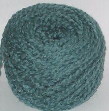 100g ball Laurel Green wavy Boucle 100% Pure British Wool knitting yarn Chunky