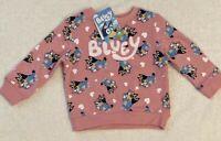 Bluey Bingo Girls Pink Sweatshirt Jumper Size 3   BRAND NEW WITH TAGS