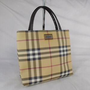 Authentic Rare Vintage Burberry Nova Check Mini Tote Handbag Purse VGC