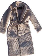 neu fifth 5th avenue baltman gesteppte gefütterte belted elegant mantel jacke weiß m l