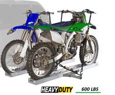 Double Dual Motorcycles Dirt Bike Hitch Carrier SUV RV Vans Trucks Aluminum Rack