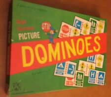 Vintage Tee Pee Toys Sign Symbol Picture Dominoes