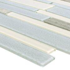 Mosaikfliesen Glas Naturstein Kalamos beige grau